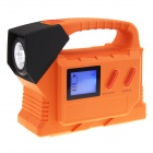 10000mAh Car Jump Starter Mobile Power Source w/ 50-LED / Warning Light - Black + Orange