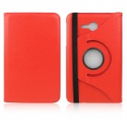 ENKAY 360 Degree Rotation Protective Case w/ Stand for Samsung GALAXY Tab 3 Lite T110 - Red