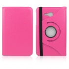 ENKAY 360 Degree Rotation Protective Case w/ Stand for Samsung GALAXY Tab 3 Lite T110 - Deep Pink