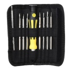 jakemy JM-8124 9-in-1 Double Tip Screwdrivers - Yellow + Gun Black
