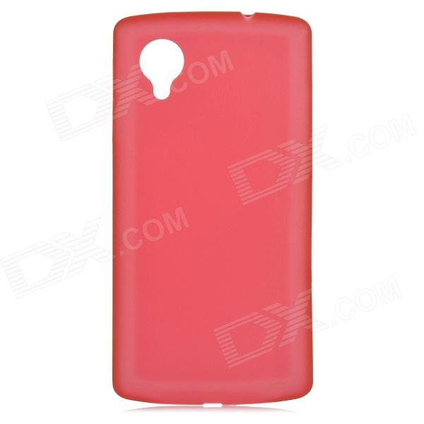 0.3mm Ultrathin Protective Plastic Back Case for Google Nexus 5 - Translucent Red protective silicone back case for google nexus 5 translucent white