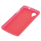 0.3mm Ultrathin Protective Plastic Back Case for Google Nexus 5 - Translucent Red
