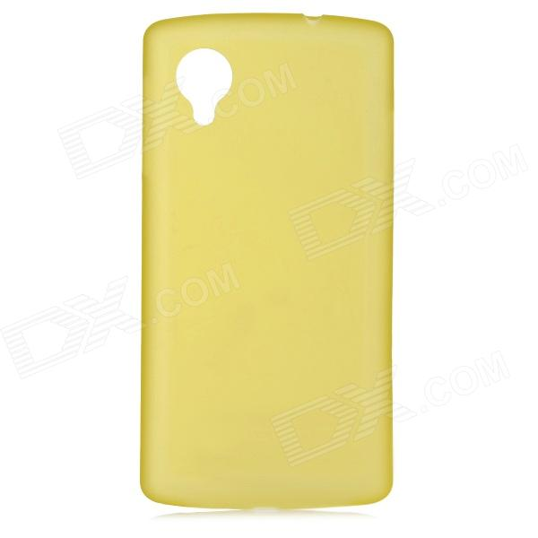 0.3mm Ultrathin Protective Plastic Back Case for Google Nexus 5 - Translucent Yellow protective silicone back case for google nexus 5 translucent white