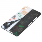 Eiffel Tower Style Protective TPU Back Case for Sony Xperia Z1 / i1 / L39H / C6902 / C6903 - Black