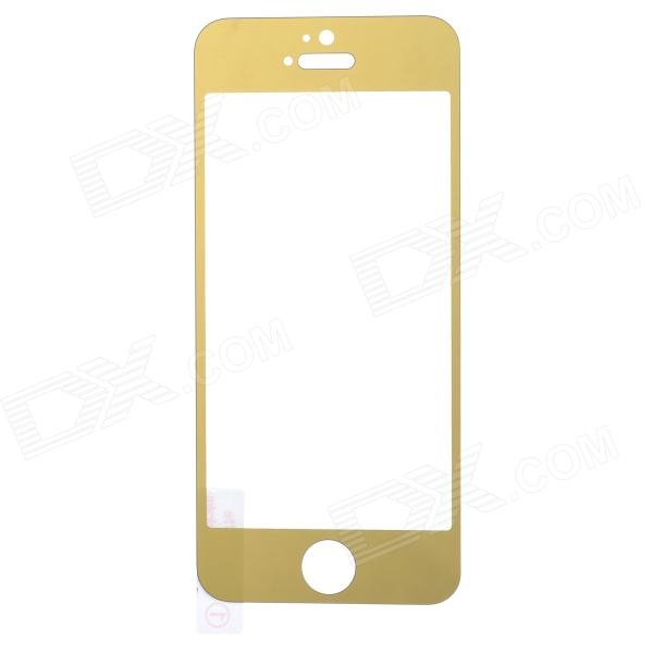 ieasypatch Electroplating Tempered  Glass Screen Protector for IPHONE 5 / 5S - Golden
