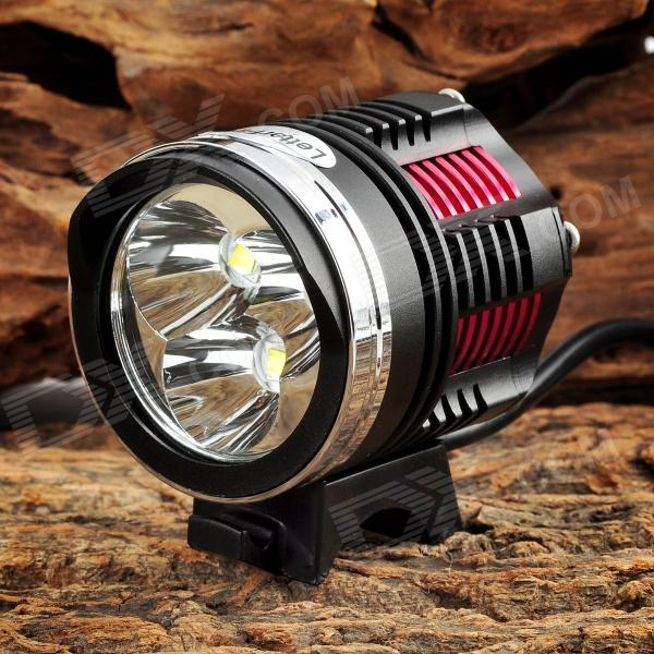 LetterFire 1800lm 3-LED 4-Mode Bike Head Lamp Set - Red + Yellow (8.4V / 4 x 18650) cyan soil bay amber 48 led car truck roof top emergency hazard warning strobe flash light lamp
