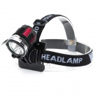 LetterFire 1800lm 3-LED 4-Mode Bike Head Lamp Set - Red + Yellow (8.4V / 4 x 18650)