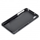 IKKI ''S'' Shaped Anti-skid Protective TPU Back Case for Sony Xperia Z2 / D6503 - Black