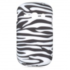 Zebra-Stripe Style Protective TPU Back Case for Samsung Galaxy Fame S6812 / S6810 - White + Black
