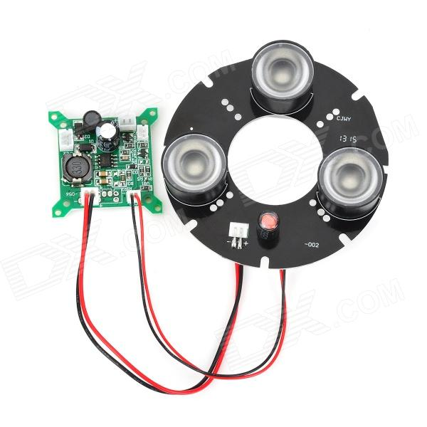CJWY-002 12V 12W 60 Degrees 3-LED Camera Array Infrared Lamp Board