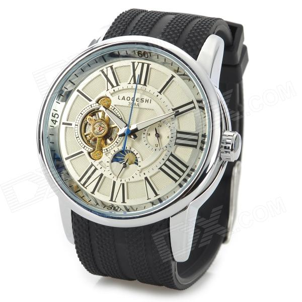 LAOGESHI 398A Men's Stylish Analog Mechanical Wristwatch - White