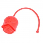Rose Shaped Silicone Tea Bag - Red