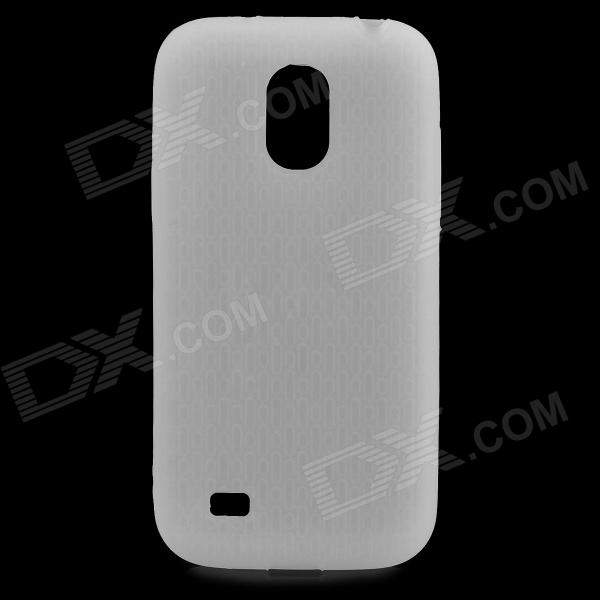 Protective Silicone Back Case for Samsung Galaxy S4 Mini i9190 - Translucent White mesh protective abs back case for samsung galaxy mini s5570 white