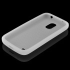 Protective Silicone Back Case for Samsung Galaxy S4 Mini i9190 - Translucent White