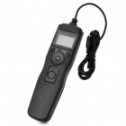 "N8 1.2"" LCD Wired Digital Timer Remote Controller for Nikon DSLR Camera - Black"