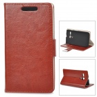 Protective PU Leather + PC Case for MOTO G - Brown