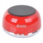 K33 Bluetooth v3.0 + EDR Speaker w/ TF / FM / Hands-Free / Microphone - Tomato Red