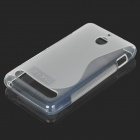 "YI-YI ""S"" Style Anti-Slip Protective TPU Back Case for Sony Xperia E1 - Translucent White"