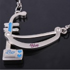 DEDO MG-65 Cute Urheen Style Pendant Metal Couple's Key Chain (2 PCS)