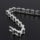 "EQute BSSM4C2 Mechanic Style Stainless Steel Locomotive Chain Link Bracelet - Silver (7.9"")"