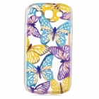 Butterfly Style Protective Plastic Case for Samsung Galaxy S3 i9300 - Blue + Yellow + Purple