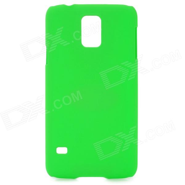 SUNSHINE Protective ABS Back Case w/ Clear Screen Guard Film for Samsung Galaxy S5 i9600 - Green sunshine sports velcro protective arm bag for samsung galaxy s5 i9600 red black