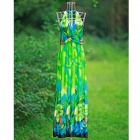 ZEA3-4-1LY Woman's Stylish Bohemia Style Beach Holiday Dress - Green
