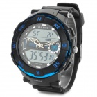 ALIKE AK1386 Men's Stylish Sports Waterproof Digital + Analog Quartz Wristwatch w/ Calendar - Black