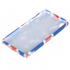 UK National Flag Style TPU Back Case for Sony Xperia Z1 / i1 / L39H / C6902 / C6903 - Red + Blue