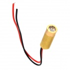 3 ~ 5mW 650nm Copper Semiconductor Laser Diode Dot Head Set - Golden + vermelho + preto
