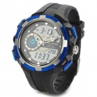 ALIKE AK1387 Men's Stylish Sports Waterproof Digital + Analog Quartz Wristwatch w/ Calendar - Black
