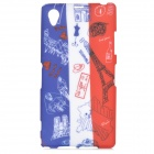 Graffiti Style Flag of France + Eiffel Tower Pattern Protective TPU Back Case for Sony Xperia Z1