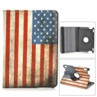 US National Flag 360 Degree Rotation PU Leather Case for Amazon Kindle Fire HDX7 - Red + Blue