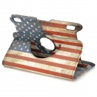 US drapeau National 360 degrés Rotation PU Housse cuir pour Amazon Kindle Fire HDX7 - rouge + bleu