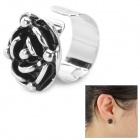 SHIYING Stylish Flower Shape Ear Bone Clip - Silver + Black