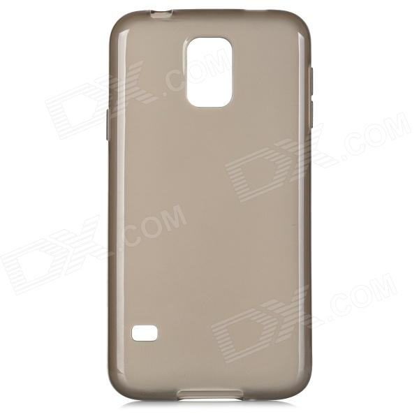 Protective TPU Back Case for Samsung Galaxy S5 i9600 - Translucent Grey protective 0 2mm thin abs back case for samsung galaxy s5 translucent red