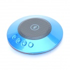TS-19 Round Portable Bluetooth v2.1 2-CH Speaker w/ Microphone / FM - Blue
