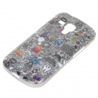 """Find Something"" Pattern Protective TPU Back Case for Samsung Galaxy Trend Duos S7562 - Grey"