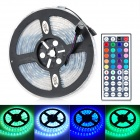 JRLED 60W 4000LM Water Resistant 300-5050 SMD LED Strip Light w/ Controller + EU Plug Power Adapter