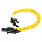 LSON LSON -10 Double Tip Dupont Cable -Yellow + Black (10PCS)