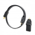 Combo HDMI Male to Male Audio Video Connection Cable w/ Micro HDMI Adapter - Black