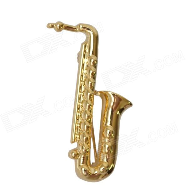 DEDO Music Gifts MG-43 Classic Saxphone Gold Plated Brooch - Golden