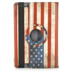 US National Flag 360 Degree Rotation PU Leather Case for Amazon Kindle Fire HDX 8.9 - Red + Blue