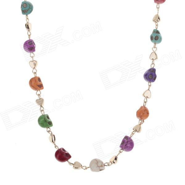 European Fashionable Skull Style Tophus Zinc Alloy Necklace - Multicolored