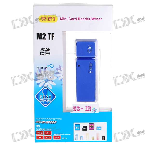 All-in-1 USB 2.0 Card Reader (Blue)