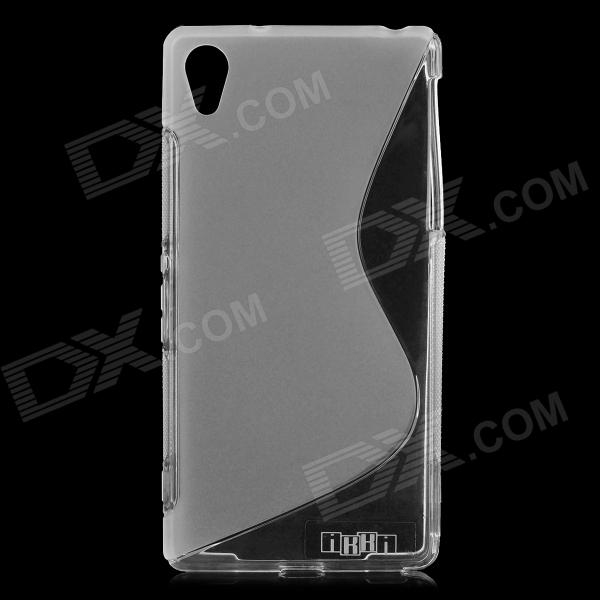IKKI Protective S Pattern TPU Back Case for Sony Xperia Z2 / D6503 - Translucent White 2 in 1 protective tpu pc back case for sony xperia z2 l50w white