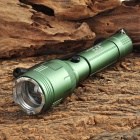 Desert Wolf SD-R25 200lm 1-LED Cree XP-E Q5 Cool White 3-Mode Flashlight w/ Strap - Green (3.7~4.2V)