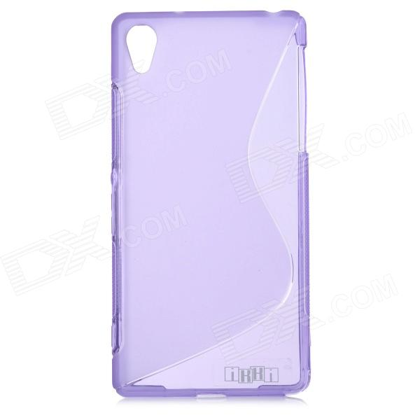 IKKI ''S'' Shaped Anti-skid Protective TPU Back Case for Sony Xperia Z2 / D6503 - Purple ikki x pattern protective tpu case for sony xperia z2 tablet p511 p512 translucent blue