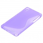 IKKI ''S'' Shaped Anti-skid Protective TPU Back Case for Sony Xperia Z2 / D6503 - Purple