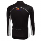 TOP CYCLING Cycling Polyester Spandex Long Sleeves Jersey + Silicone Cushion Pants (L)